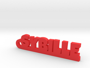 SYBILLE Keychain Lucky in Red Processed Versatile Plastic