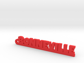 BONNEVILLE Keychain Lucky in Red Strong & Flexible Polished