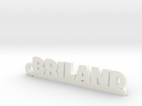 BRILAND Keychain Lucky in White Processed Versatile Plastic