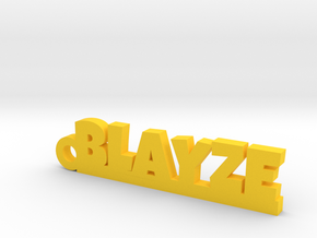 BLAYZE Keychain Lucky in Yellow Strong & Flexible Polished