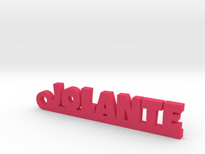 JOLANTE Keychain Lucky in Pink Strong & Flexible Polished