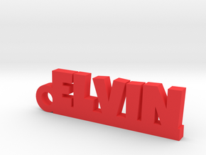ELVIN Keychain Lucky in Red Strong & Flexible Polished