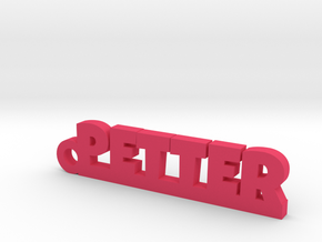 PETTER Keychain Lucky in Pink Strong & Flexible Polished