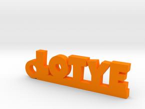 LOTYE Keychain Lucky in Orange Strong & Flexible Polished