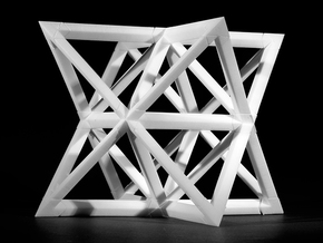 Sanmiittai | Star Tetrahedron pack  in White Strong & Flexible Polished