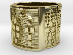 OTURADI Ring Size 11-13 in 18k Gold Plated: 12 / 66.5