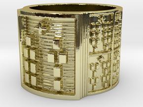 OTURABARA Ring Size 13.5 in 18k Gold Plated Brass