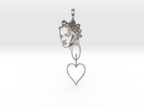 RIHANNA PENDANT - RIHANNA FAN PENDANT - Exclusive  in Natural Silver (Interlocking Parts)