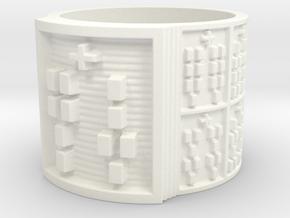 IRETEJUANI Ring Size 13.5 in White Processed Versatile Plastic