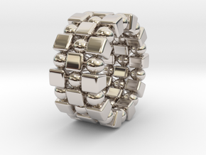 Claudette T. - Ring in Rhodium Plated Brass: 6 / 51.5