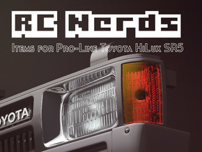 RCN003 Front grill lamps for Pro-Line Toyota SR5  in Frosted Ultra Detail