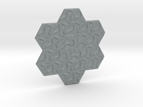 Hexagonal Spirals - Small Miniature in Polished Metallic Plastic