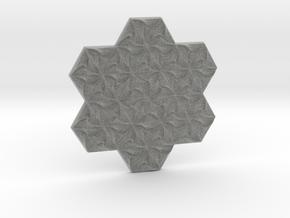 Hexagonal Spirals - Large Miniature in Metallic Plastic