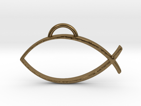 Ichthys  in Natural Bronze
