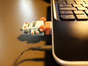 Color Robot USB Pen Drive  in Full Color Sandstone