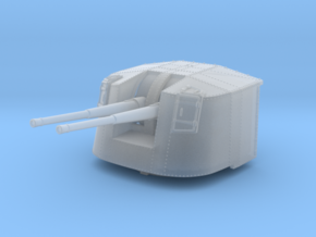 """1/350 4.7"""" MKXII CPXIX Mount x3 Closed Sights in Smoothest Fine Detail Plastic"""