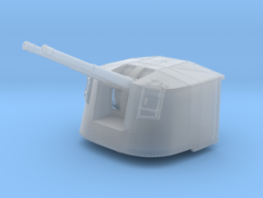 """1/350 4.7"""" MKXII CPXIX Mount x4 25º Closed Ports in Smoothest Fine Detail Plastic"""