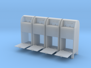 USPO Mail Collection Box - set of 4 - 1:35scale in Frosted Ultra Detail