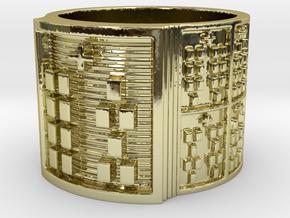OSHEYEKUN Ring Size 14 in 18k Gold Plated Brass