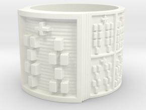 OSHEFUN Ring Size 13.5 in White Processed Versatile Plastic