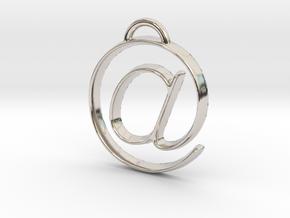 at symbol in Platinum