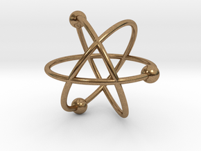 Atom in Natural Brass