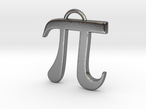 Pi in Polished Silver