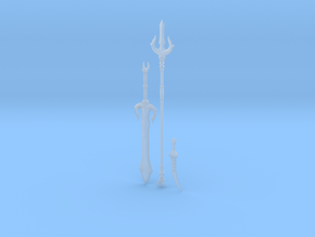 """""""BotW"""" Gerudo Weapons Set in Smooth Fine Detail Plastic: 1:12"""