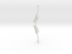 """BotW"" Royal Bow in White Natural Versatile Plastic: 1:12"
