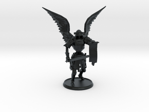Larzok, Dark Angel of Retribution, 28mm in Black Hi-Def Acrylate