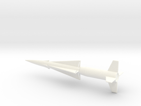 1/160 Scale Nike Ajax Missile in White Processed Versatile Plastic