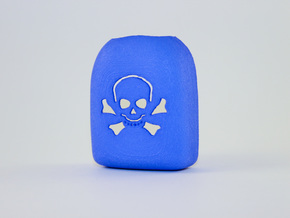 Omnipod Pod Cover - Skull Crossbones in Blue Strong & Flexible Polished