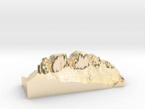 "MyTinyDolomites ""Drei Zinnen"" (Dolomites  in 14K Yellow Gold"