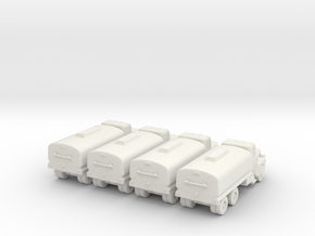 Mack Tanker - Set of 4 - 1:200scale in White Strong & Flexible