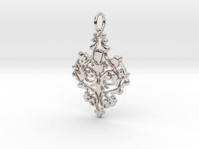 Elegant Vintage Classy Pendant Charm in Platinum