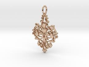 Elegant Vintage Classy Pendant Charm in 14k Rose Gold Plated Brass