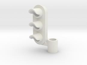 Three Aspect Light Left  in White Strong & Flexible