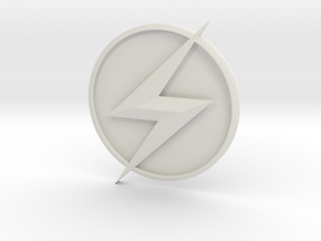 Kid Flash - Chest Symbol in White Natural Versatile Plastic