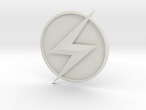 Kid Flash - Chest Symbol in White Natural Versatile Plastic