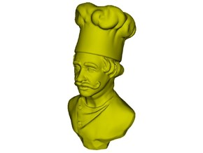 1/9 scale Chef de cuisine bust in Smooth Fine Detail Plastic