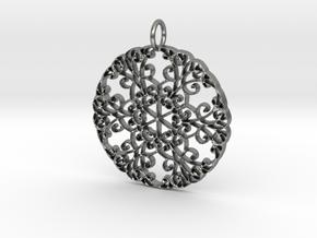 Elegant Flourish Beautiful Pendant Charm in Natural Silver