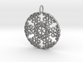 Elegant Flourish Beautiful Pendant Charm in Aluminum