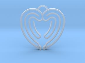 Heart Shape Angel Wings in Smooth Fine Detail Plastic