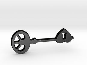 Love Key II in Matte Black Steel