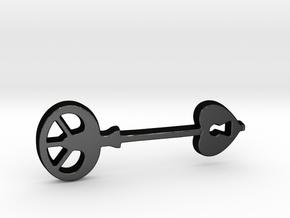 Love Key III in Matte Black Steel