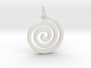 Spiral Simple in White Natural Versatile Plastic