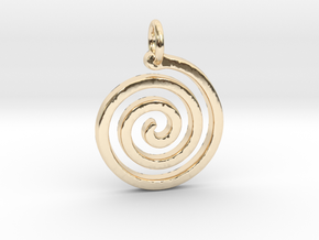 Spiral Simple in 14K Yellow Gold
