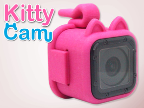 Kitty Cam - Gopro Mount for Pets in Pink Strong & Flexible Polished