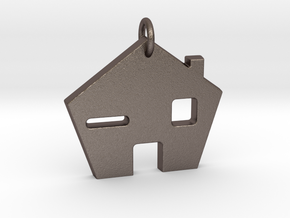 Home Sweet Home! in Polished Bronzed Silver Steel