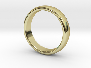 Mens Sleek Band  M-008 in 18k Gold Plated Brass